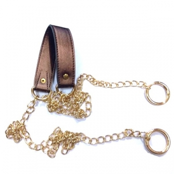 Metal chain with shoulder strap pad(23cm. x 3cm.)(160cm.)(0601)