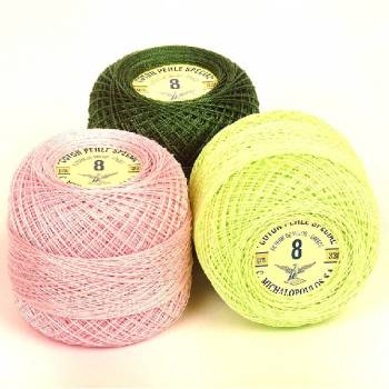 Cotton Perle Special No 8/2 100% cotton yarn.