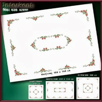Embroidery Stamped Tablecloth 180 x 140 cm - Cross-stitch No 20