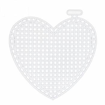 Ready Heart Made Plastic Canvas for Knitting Handbag  and accessories  17cm Χ 13cm