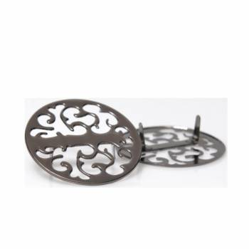Metal Ornament, Round Laser Cut Design, 5.5cm (ΒΑ000398)