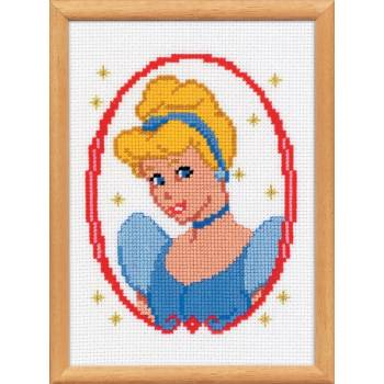 KIT Counted cross sitch  Disney  Cinderella Princess 25x20cm ΚΙΤ   19027/2575